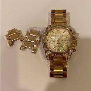 Gold Michael Kors watch excellent condition